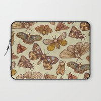 Moth Pattern Laptop Sleeve by Kate O'Hara Illustration