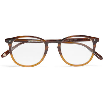 Garrett Leight California Optical Kinney D-Frame Acetate Optical Glasses | MR PORTER