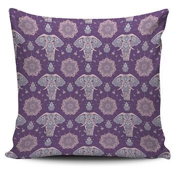Zen Elephant Pillow Cover