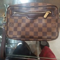 Louis Vuitton pochette wristlet purse damier