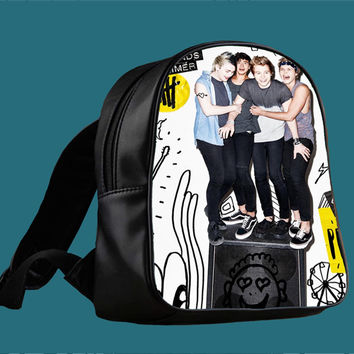 5 Seconds of Summer 5SOS Sterio for Backpack / Custom Bag / School Bag / Children Bag / Custom School Bag *