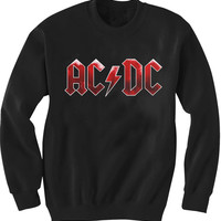 AC DC Logo Sweatshirt Super Soft DTG Print Sizes S, M, L, XL, XXL, 3XL