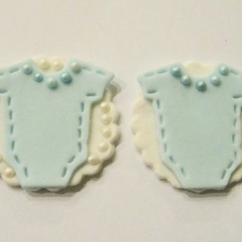 Soft Baby Blue & White Oesie. Set of 12 (one dozen)