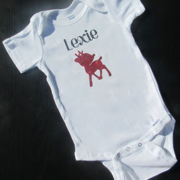 Christmas Onesuit, Cute Baby Clothes, Reindeer Onesuit, Baby Shower Gift, Newborn Outfit, Baby's Christmas Outfit,