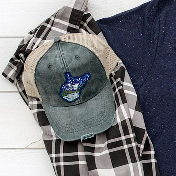 Distressed Midnight Stars - Glow in the Dark - Patch Hat