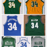 Cheap #20 Ray Allen Jersey Green White #34 Ray Allen Yellow Blue Throwback Basketball Jerseys Free Shipping