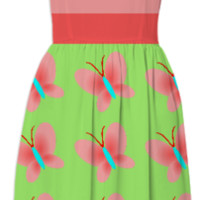 Pink Butterfly Pattern Sundress created by One Stop Gift Shop | Print All Over Me