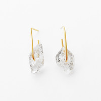Tibetan Quartz 14k Rectangle Earrings