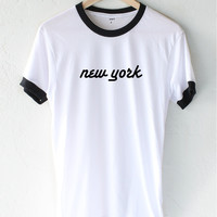 New York Ringer Tee