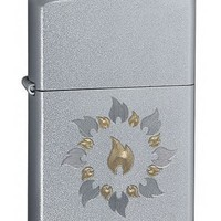 Zippo 21192 Ring of Fire Satin Chrome Lighter