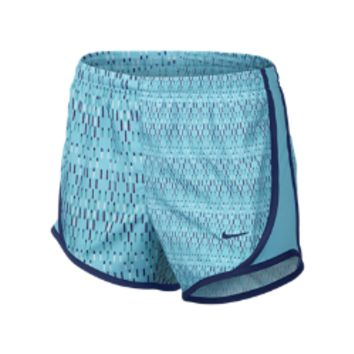 Nike Tempo Graphics Girls' Running Shorts - Polarized Blue