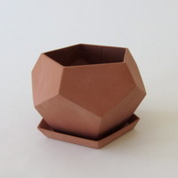 Faceted Geo Planter, Terra Cotta Large - Fire Escape Farms