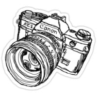 Canon AE-1 Illustration T-shirt or Sticker T-Shirts & Hoodies