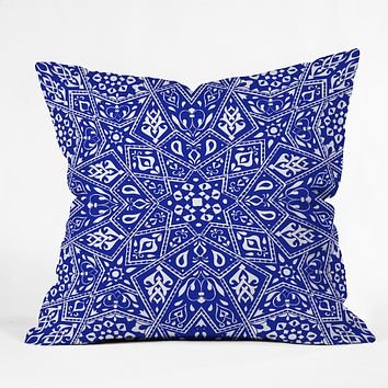 Aimee St Hill Amirah Blue Throw Pillow