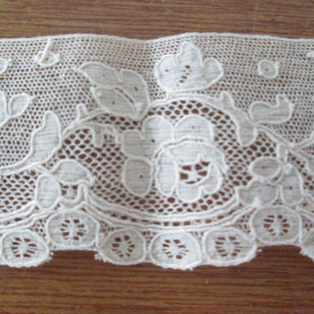 19th Century Alencon Lace French Edging
