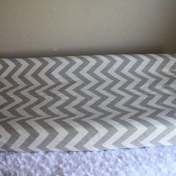 Gray Chevron Contour Changing Pad Cover