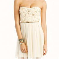 Ivory Dream Sequined Tulle Dress