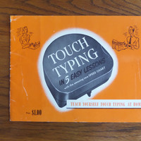 Touch Typing in 5 Easy Lessons - Vintage Typewriter Book - Good Condition