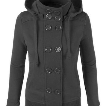 ac DCK83Q Women's Fashion Hats Double Breasted Hoodies Jacket [44571852825]