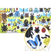 Beetles Dragonflies Butterfly Bug Shaped Insect Themed Puffy Stickers for Scrapbooking