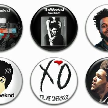 "Set of 6 New The Weeknd 1.25"" Pinback Button Badge Pin"