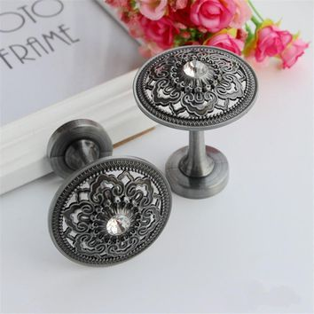 2017 Rhinestone Flower Curtain Tie Back Wall Hooks Zinc Alloy Tieback Holders Hat Coat Robe Hanger Accessories Home Decor
