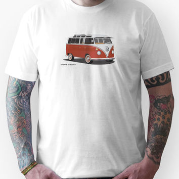 21 Window VW Bus Red/White Unisex T-Shirt