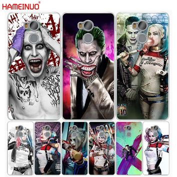 HAMEINUO suicide squad Joker harley quinn Margot Robbie Cover phone Case for Xiaomi redmi 4 1s 2 3 3s pro redmi note 4 4X 4A 5A
