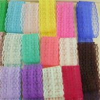 10yards/ lot 45MM Width white lace ribbon DIY decorative lace trim fabric  wedding  birthday Christmas decorations 29 color