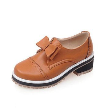 Vintage England Style Oxford Shoes For Women