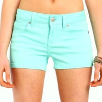 Color Denim Shorts - LoveCulture