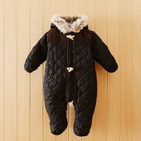 New arrival winter baby rompers France brand baby winter coat top quality baby outwear winter baby clothing