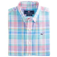 Boys Chipping Green Whale Shirt