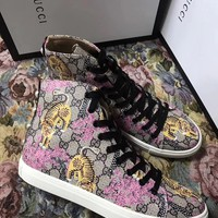 ❤shosouvenir❤GUCCI fashion casual shoes tiger