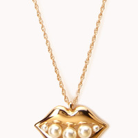 Kisses & Pearls Rope Necklace