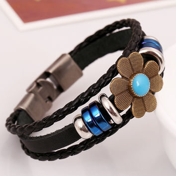 Shiny Gift New Arrival Stylish Great Deal Awesome Hot Sale Jewelry Punk Accessory Leather Vintage Bracelet