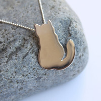 Mr. Cat Necklace Sterling Silver