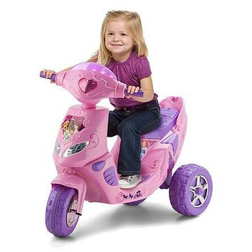 Disney Princess 6-Volt Toddler ATV Battery-Powered Operated 3 Wheel Wheeled Electric Scooter Tricycle Bike