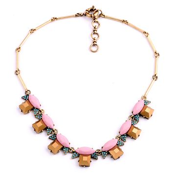 Rosy Bronze Statement Necklace