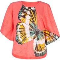 FULL TILT Butterfly Girls Circle Top