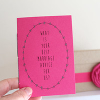 Guest Book Alternative In Fuchsia Pink - Conversation Starters - Ice Breakers
