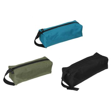 1Pc Multifunctional Waterproof Storage Tools Utility Bag Canvas Bag Small Metal Parts With Carrying Handles Black/Green/Blue