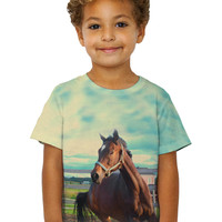 Kids Horse Out For A Run