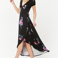 Flower & Stem Surplice Dress