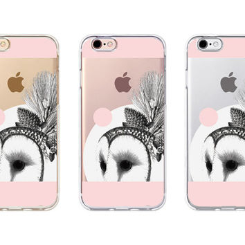iPhone Case - 'Gorgerous Barn Owl' - iPhone 6s case, iPhone 6 case, iPhone 6+ case - Clear Flexible Rubber TPU case J37