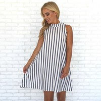 Out At Sea Stripe Shift Dress