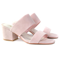 TINA MULE // BABY PINK SUEDE