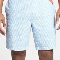 Men's Vineyard Vines 'Club' Flat Front Seersucker Shorts