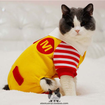 Bright Red And Yellow Cat Jacket Costumes