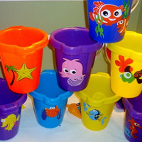 Personalized Sand Buckets. Finding Nemo